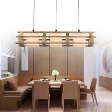 rectangular wood chandelier lighting