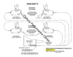 precision performance products 241b kwik shift ii shifter kwik shift ii ford c4 and c6 shifter configurations