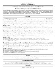 Aviation Mechanic Resume Therpgmovie