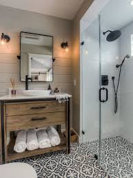 bathrooms ideas. Example Of A Transitional Black And White Tile Cement Floor Multicolored Walk- Bathrooms Ideas D