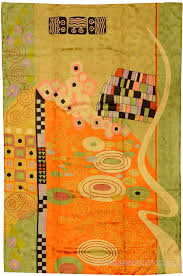 klimt orange green rugs abstract wall hangings accent