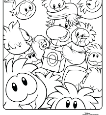Club Penguin Coloring Pages To Print Betterfor