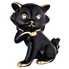 <b>статуэтка LEFARD</b> Котенок 13х8х18см черный фарфор | www.gt ...