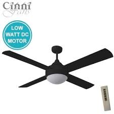 ceiling fan with light and remote. milano dc ceiling fan - 4 blade in black 52\ with light and remote