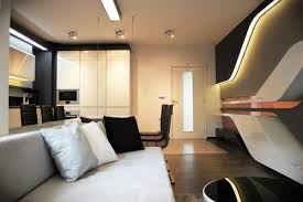Modern interior design with futuristic flair