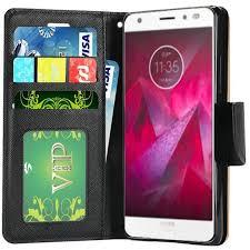 moto z2 force case. motorola moto z2 force wallet flip credit card case - rose gold