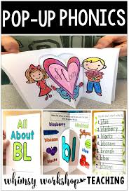Phonics games for kids help build reading skills that will last a lifetime. Fun Phonics Activities Pop Up Booklets Made From Simple Interactive Worksheets For Kindergarten Or Grade One Free Pages Whimsy Workshop Teaching