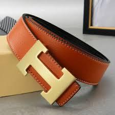 Details About Metal H Steel Belt For Buckle Brown Black Leather Men Women Gold Luxury