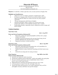College Resume Objective Examples Resume Work Template