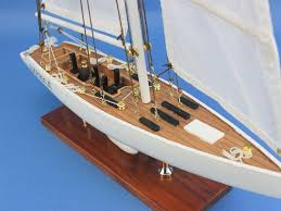 wooden america3 model sailboat decoration 23