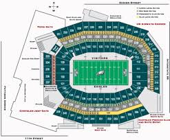 One Direction Lincoln Financial Field Seating Chart Nfl Football Stadiums Philadelphia Eagles Stadium