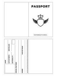 Passport Template Printable Passport Template Kids Pinteres 2