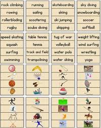War Weight Chart Sports Word Wall Pocket Chart Cards With Pictures