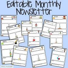 Monthly Newsletter Template For Teachers Wonderful Of Free Printable Newsletter Templates For Teachers