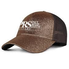 Prs Guitars Logo Womens Mens Washed Cap Hat Mesh Baseball