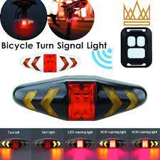 Đèn hậu xi nhan nhấp nháy sạc điện điều khiển từ xa không dây dành cho xe  đạp địa hình