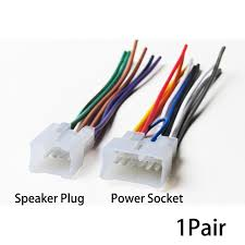 1pair 70 1761 radio wiring harness for toyota 87 up power 4 speaker 1pair 70 1761 radio wiring harness for toyota 87 up power 4 speaker m3 female connector wire harness