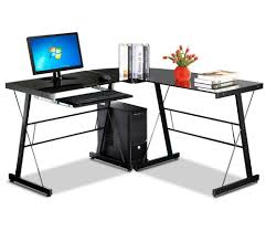 corner office table. Get Quotations · Go2buy L-Shaped Corner Computer Desk Laptop Workstation Home Office Study Table With Black Glass E