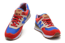 new balance shoes red and blue. 015 new balance women 574 classic jogging shoes red / blue and