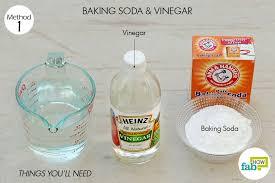 vinegar to unclog a drain baking soda 1 cup