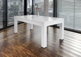 Ess-Tisch weiß Hochglanz ausziehbar aus MDF 180x90 cm recht-eckig ...