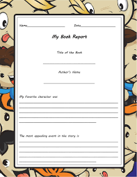 Free Book Report Templates Free Book Report Worksheet Templates Word Layouts