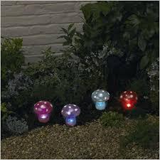 cool mushroom garden lights