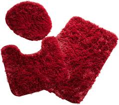 bathroom rug sets 6 red bath home design full size of designs fluffy rugs toilet mat