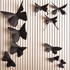 Romantic Bedroom Wall Decor 40 3d Soot Black Butterfly Silhouettes For Romantic Wall Art