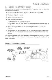 Jlg G12 55a Load Chart 5 Use Of The Capacity Chart Capacity Indicator Locations 5