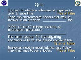 Accident Investigation Course Objectives Understand The Need