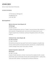 Sample Simple Resume Curriculum Vitae Template Easy Free Samples