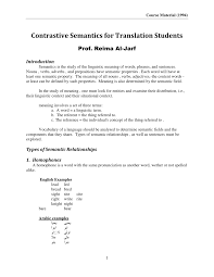 Pdf Contrastive Semantics For Translation Students