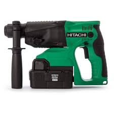 hitachi drill battery. hitachi 24v 4kg sds-plus hammer drill with 2 x 2ah nimh batteries hit-dh24dvc - cordless sds+ hammers power tools battery