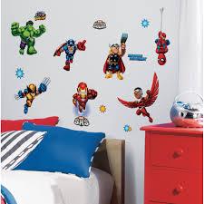 Marvel Superhero Bedroom Marvel Super Hero Squad Peel Stick Wall Decals Walmartcom