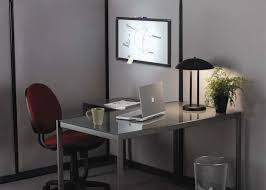 decorating ideas for small office. Minimalist Home Office Decorating Ideas With White Wooden Table Also Red Chair For Small