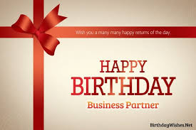 Birthday Business Cards Birthday Wishes For Business Partner And Greeting Cards Birthday