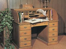 this old fashioned roll top desk creates an ideal location for a home office