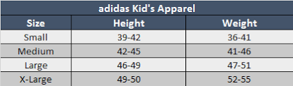 Adidas Youth Size Chart Adidas Spain 2020 Home Jersey Youth