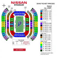 Nissan Stadium Chart Nissan Stadium Map Map Of Nissan Stadium Tennessee Usa