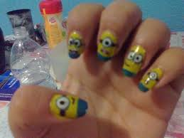 Despicable Me Minions Nail Art · How To Paint A Character Nail ...
