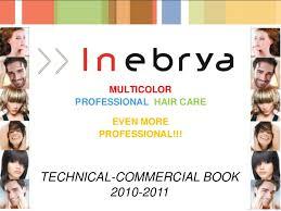 Ice Cream Hair Dye Colour Chart Gb Inebrya Technical Commercial Book Jan 2011