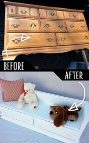furniture do it yourself. DIY Furniture Hacks | Repurposed Dresser Bench Cool Ideas For Creative Do It Yourself L