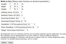 Evaporator Coil Sizing Chart Size Your Refrigeration System For Walk In Coolers Freezers