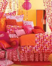 Funky Pink & Orange Bedrooms. For the girls new shared room?