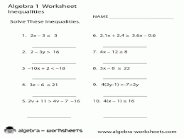 graphing linear inequalities in two variables worksheet linear equations in two variables worksheet worksheets for