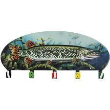 Fish Coat Rack Delectable Northern Pike Fish Coat Rack 32 Hook Metal And 32 Similar Items
