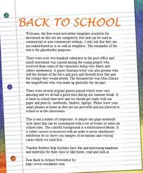 School Newsletter Template For Word 15 Free Microsoft Word Newsletter Templates For Teachers School