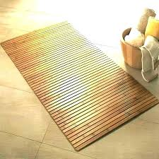 wooden bathroom mat wooden bath mat teak wood rectangle shower full size of orange bathroom rugs