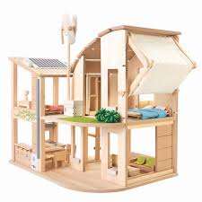 green dollhouse with furniture – plantoys usa